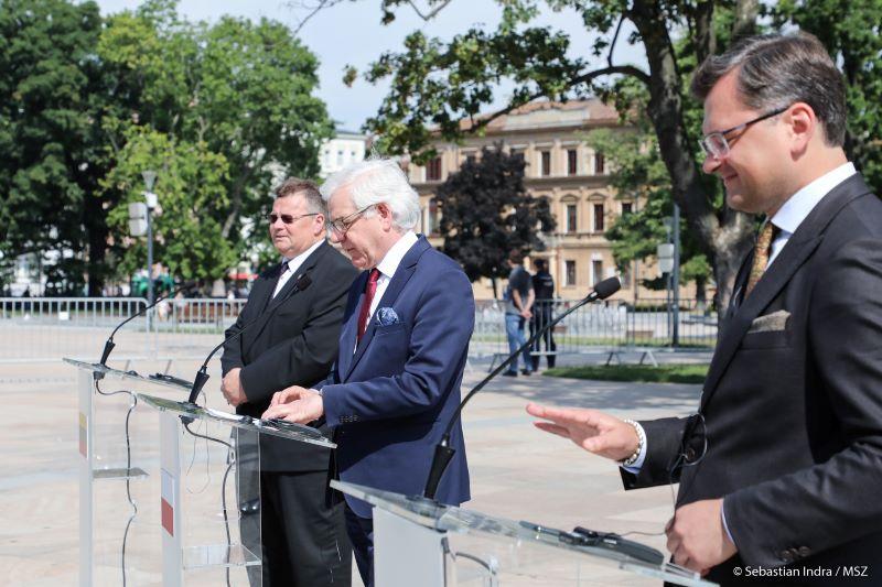 Spotkanie ministrów spraw zagranicznych Polski, Litwy iUkrainy wlipcu 2020 roku połączone zogłoszeniem powołania Trójkąta Lubelskiego.