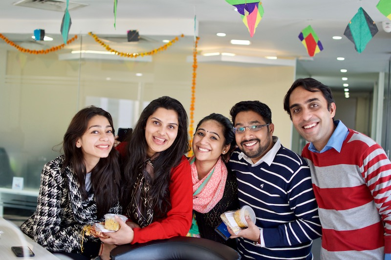 Our team on lohri celebration in our business centre in Sohna Road, Gurgaon