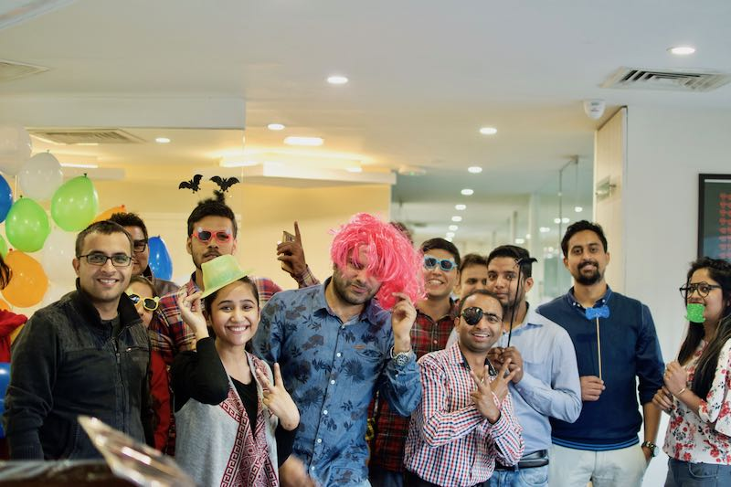 Our team on smash celebration event in our business centre in Sohna Road, Gurgaon