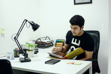 Our intern enjoys a regular day in our business centre in Sohna Road, Gurgaon