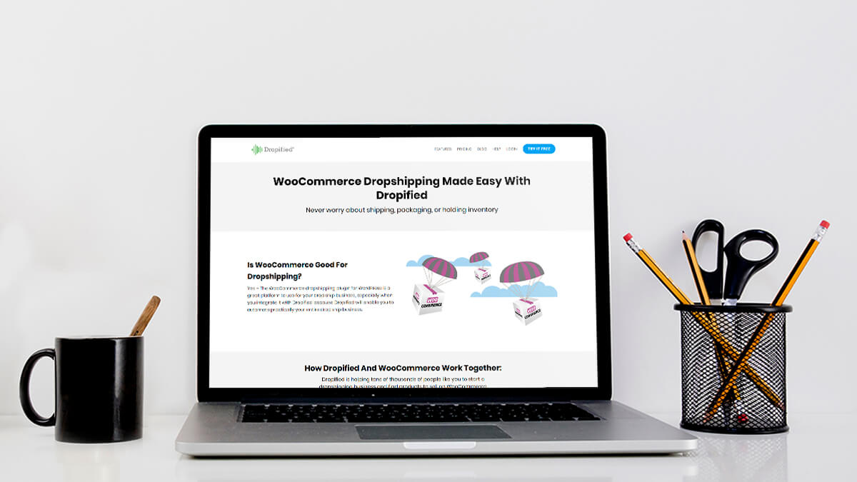 Dropified for WooCommerce Dropshipping website