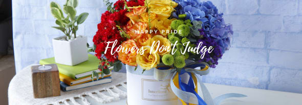 Flowers Don't Judge - Celebrating All Colors of Pride