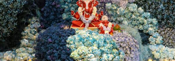 A Florally Grandiose Ganpati Celebration - Decor by Interflora
