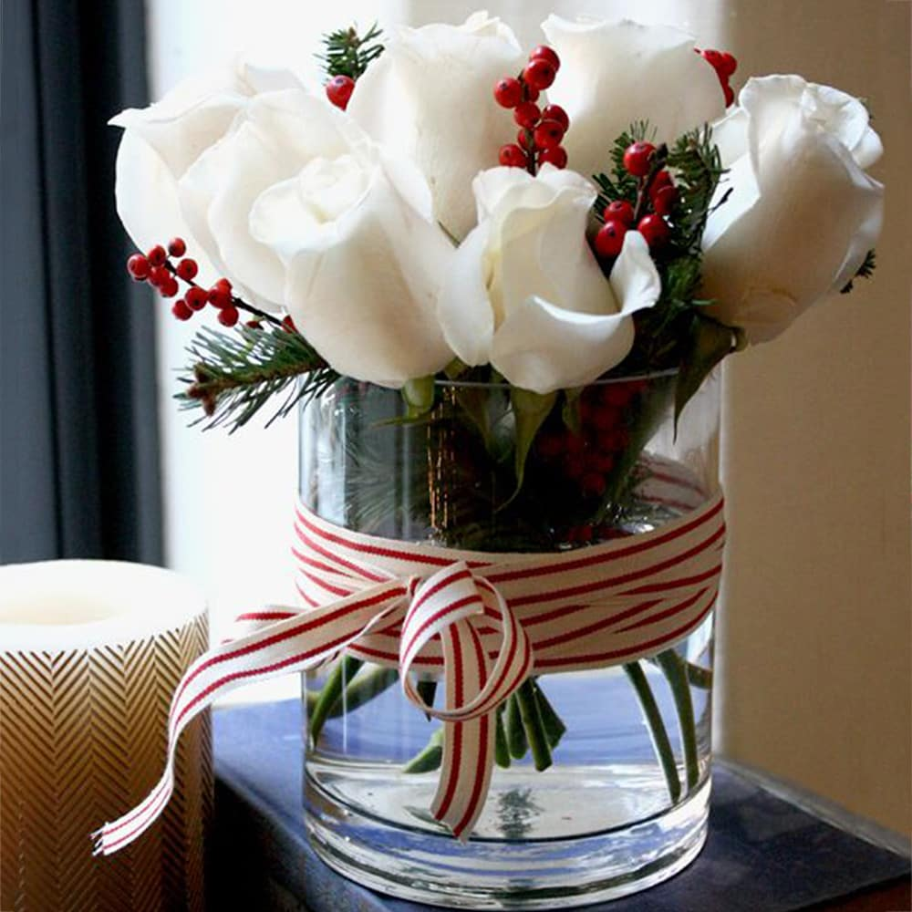 Simple and Adorable- White rose arrangement