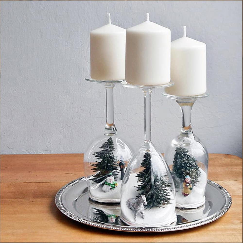 Wine Glass Holiday Decoration
