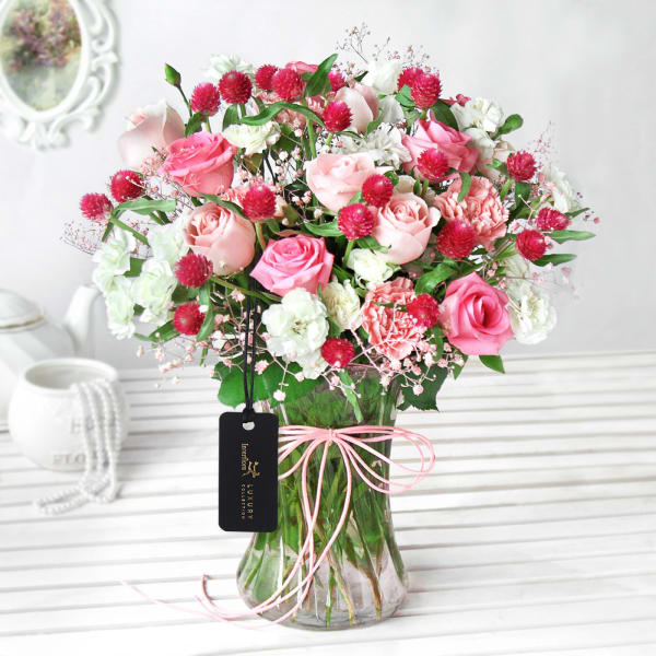 Enchanted Blooms in a Vase
