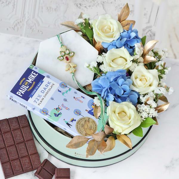 Grandiose Confections Floral Rakhi Gift Box