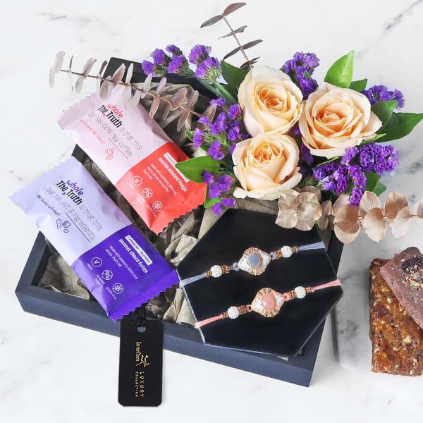 Healthy Wishes Rakhi Gift Box