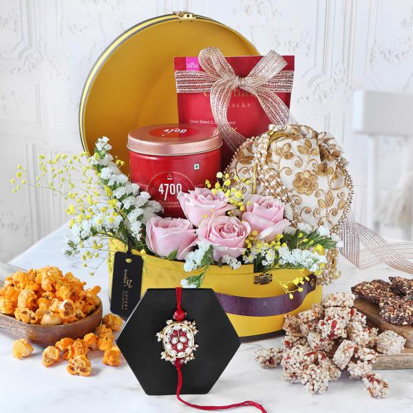Irresistible Treats Rakhi Gift Box