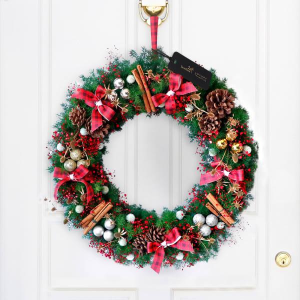Merry Christmas Luxe Wreath