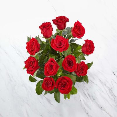 12 roses short stemmed