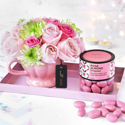 Blushing Roses Diwali Gift Hamper