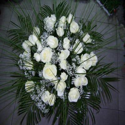 Bouquet of 25 Long Stemmed White Roses