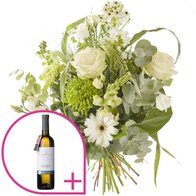 Bouquet sparkling and white wine order flowers online bouquet sparkling and white wine mightylinksfo
