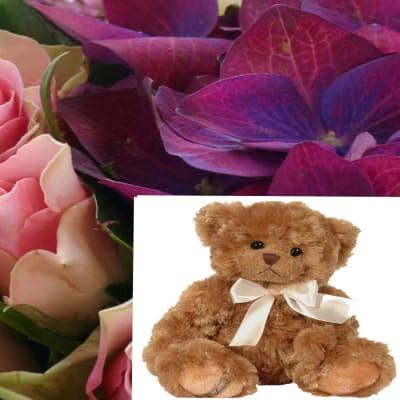 Bouquet + Teddy Bear