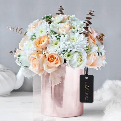 Elite Sheen Floral Vase Arrangement