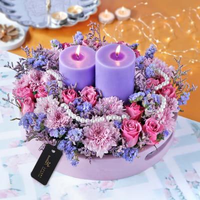 Festive frolic and lavender lights