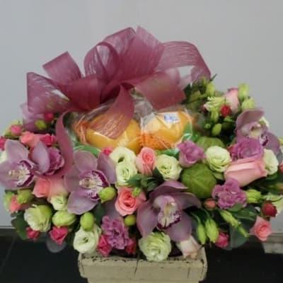 Flowers and Fruits Arrangement