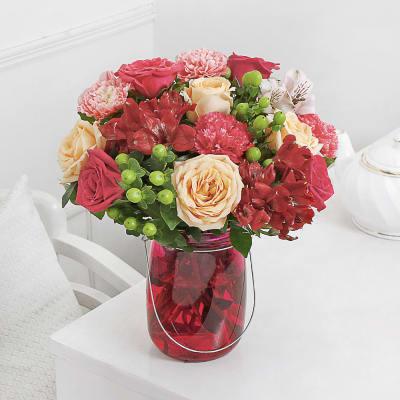 Buy flower vase arrangements online same day delivery india hot pink floral lantern mightylinksfo