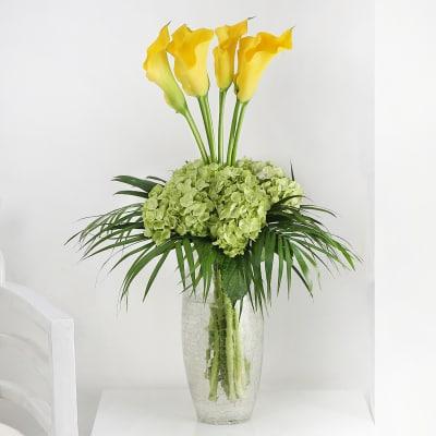 Luxury Calla Lily Hydrangea Vase Order Anniversary Flowers Online