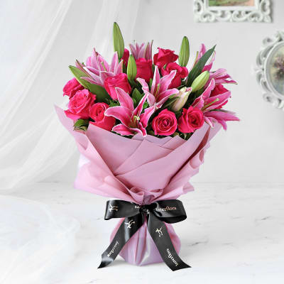 Radiant Pink Hand Tied