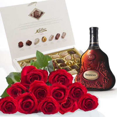 Roses, Cognac and chocolates