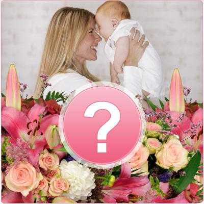 Seasonal Bouquet New Born Baby Girl