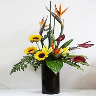 Stylish Arrangement In Tall Vase