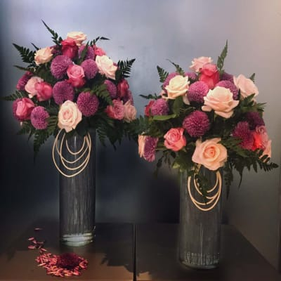 Two vases for wedding anniversary