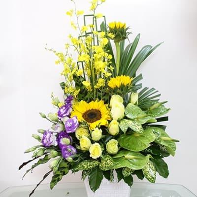 yellow & purple arrangement