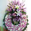 Funeral wreath purple & white Online