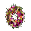 Round decorated wreath