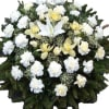 Wreath with white flowers (wihout ribbon)