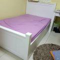 מיטה ברוחב וחצי עם ארגז מצעים דגם רומי