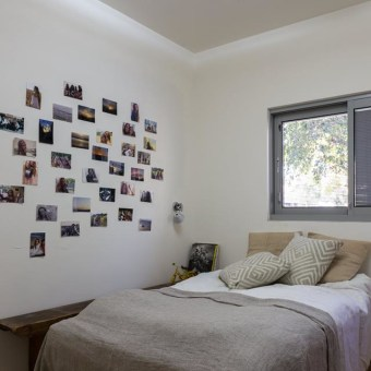 קיר מגנט לתליית תמונות בחדר ילדה