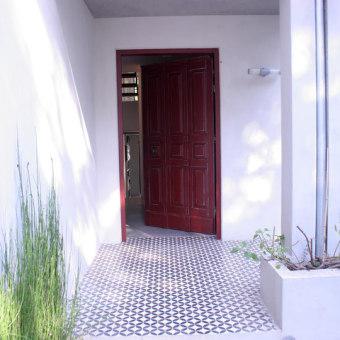 כניסה לבית דלת עץ בתכנון נגרות