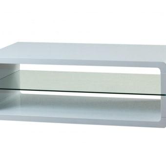 C1236VL שולחן סלון מעוצב מזכוכית מחוסמת בשילוב היי גלוס דגם