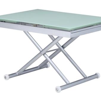 שולחן סלון בעיצוב חדשני ומודרני, בעל מנגנון מתרומם שהופך אותו לפינת אוכל קטנה. פרטים טכניים: דגם המוצר: 2201 מידות: 760*830*(400+400+)1200 מגיע בצבעים: לבן \ מוקה \ אפור