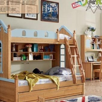 מיטת קומתיים לילדים בסגנון כפרי דגם 612