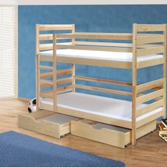 מיטת ילדים קומותים עץ מלא דגם: 2 pluto