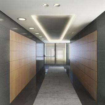 תכנון לובי מוצע בקומה טיפוסית.