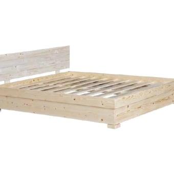 בסיס מיטה מעץ מלא עם ארגז מצעים וראש H72