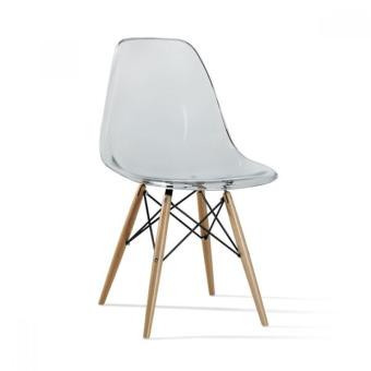 כסא שקוף שלוב עץ לפינת אוכל 555444545