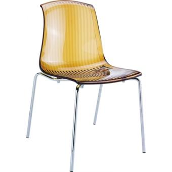 כסא פלסטיק רגלי ניקל 1564 לפינת אוכל מסעדות