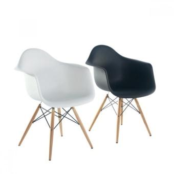 כסא פלסטיק שילוב עץ אוכל 53523