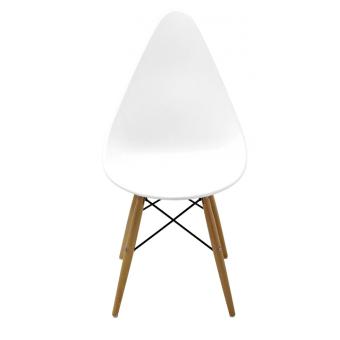 כיסא לפינת אוכל רגלי עץ מושב פלסטיק 119647