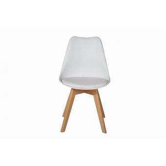 כסא רגלי עץ מושב מרופד(דמוי עור)לפינת אוכל 1957587