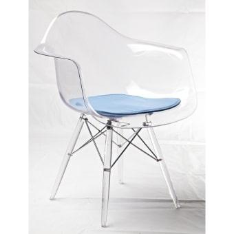 כסא שקוף עם ידיות לפינת אוכל 11663348