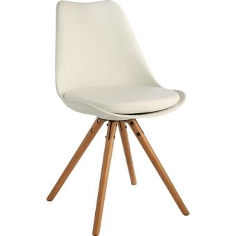 כסא פלסטיק רגלי עץ לפינת אוכל 119457