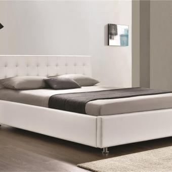מיטה זוגית 'מורן' לבן עם ארגז מצעים